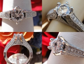 0.83CT Round Brilliant Diamond Engagement Ring Certified and Appraised at $3,500 Price: $1,750