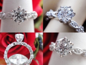 1.01CT Round Brilliant Diamond Engagement Ring IGI Certified and Appraised at $6,806 Price: $2,150