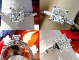 0.80CT Radiant Diamond Engagement Ring GIA Certified and Appraised at $4,000 Price: $1,995