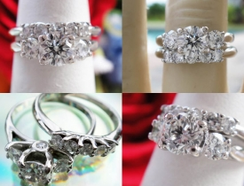 1.04CT Round Brilliant Diamond Engagement Ring with Matching Band Certified and Appraised at $5,000 Price: $1,495