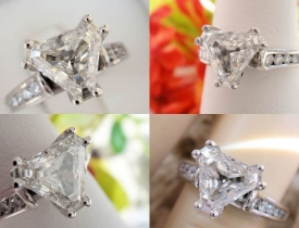 1.20CT Trillion Diamond Engagement Ring GIA Lab Certified and Appraised at $7,800 Price: $2995