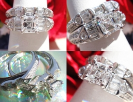 1.31CT Asscher Diamond Engagement Ring with Matching Band GIA Certified and Appraised at $7,000 Price: $2,995