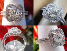 1.37CT Round Euro Diamond Halo Engagement Ring Certified and Appraised at $6,050 Price: $2,495