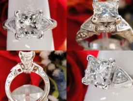 1.31CT Princess Diamond Engagement Ring Certified and Appraised at $8,400 Price: $3,495