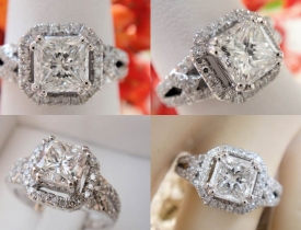 1.41CT Radiant Diamond Engagement GIA Certified and Appraised at $7,200 Price: $3,750