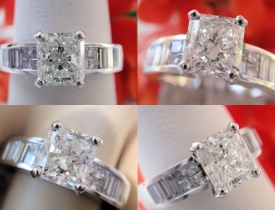 1.54CT Radiant Diamond Engagement Ring GIA Lab Certified and Appraised at $7,700 Price: $3,995