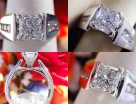 1.25CT Princess Diamond Engagement Ring IGI Certified and Appraised at $9,700 Price: $3,250