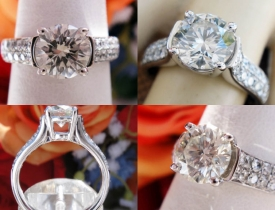 1.65CT Round Brilliant Diamond Engagement Ring Certified and Appraised at $11,400 Price: $3,995