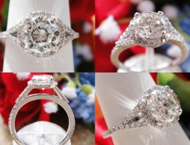 1.34CT Round Brilliant Halo Diamond Engagement Ring Certified and Appraised at $12,500 Price: $4,495