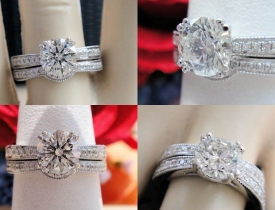 1.42ct Round Brilliant Diamond Pave Milgraine Engagement Ring Certified and Appraised at $9,800 Price: $4,250