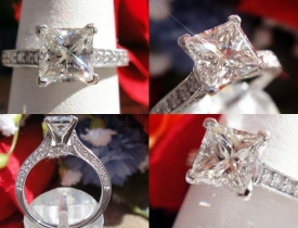 1.46CT Princess Diamond Engagement Ring GIA Lab Certified and Appraised at $10,800 Price: $4,495