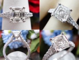 1.55CT Asscher Diamond Scott Kay Engagement Ring GIA Certified and Appraised at $13,000 Price: $5,995 (PRICE CUT FROM $6,500)