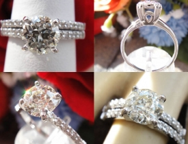 1.56CT Euro Round Diamond Engagement Ring with Matching Band Certified and Appraised at $8,800 Price: $4,250