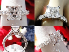 1.67CT Princess Diamond Engagement Ring GIA Certified and Appraised at 14,100 Price: $5,750