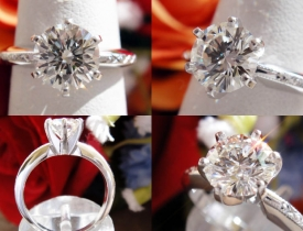 1.11CT Round Brilliant Diamond Engagement Ring EGL USA Certified and Appraised at $13,700 Price: $5,500