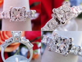 1.96CT Princess Diamond Engagement Ring GIA Lab Certified and Appraised at $14,300 Price: $5,995