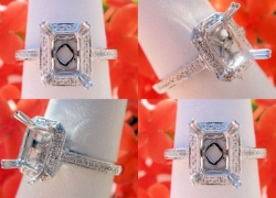 0.14CT 14kt White Gold Pave Style Setting Price: $695