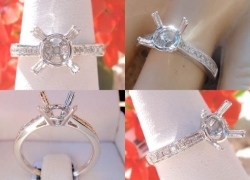 0.17CT 14kt White Gold Setting Price: $595