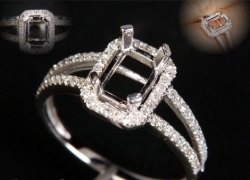 0.22CT 14kt White Gold Setting Price: $695