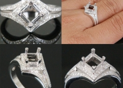 0.30CT 14kt White Gold Setting Price: $995