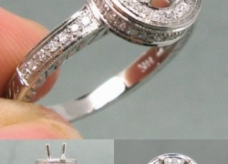 0.33CT 14kt White Gold Round Pave Setting Price: $850