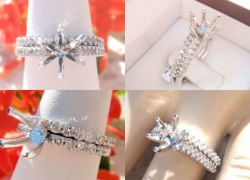 0.35CT 14kt White Gold Setting & Band Set Price: $1,095