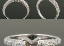 0.35CT 14kt White Gold Round Pave Setting Price: $795