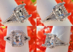 0.40CT 14kt White Gold Pave Style Setting Price: $795