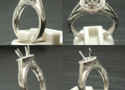 0.41CT 14kt White Gold VS-SI/H for Round Diamond Price: $795