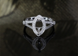 0.44CT 14kt White Gold pave Style Marquise Setting Price: $795