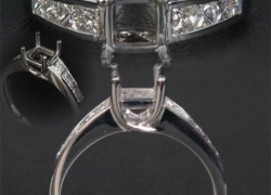 0.51CT 14kt White Gold Princess Setting Price: $895