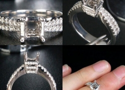 0.56CT 14kt White Gold Princess Setting Price: $895
