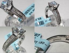 "0.56CT 18kt White Gold ""Simon G"" Designer Engagement Ring (Closeout) $1495"