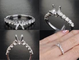 0.65CT Diamond 14KT White Gold Engagment Ring Mount Price: $995