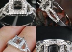 0.66CT 14kt White Gold Princess Setting Price: $795