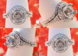 0.67CT 14kt White Gold Pave Style Setting & Band Set Price: $1,195
