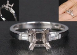 0.11CT 14kt White Gold Setting Price: $595
