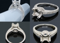 0.80CT 14K W/Gold Diamond Semi-Mount Ring Price: $850