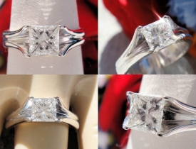 0.72CT Princess Diamond Solitaire Engagement Ring EGL Certified and Appraised at $5,550 Price: $1,995 (PRICE CUT FROM $2,250)