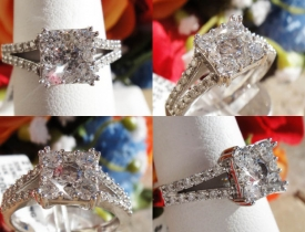 0.75ct Round Pave Diamond Engagement Ring Certified and Appraised at $2,450 Price: $995