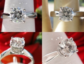 0.84CT Round Brilliant Diamond Platinum Engagement Ring IGI Certified and Appraised at $5,206 Price: $1,995