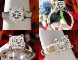 1.01CT Radiant Diamond Engagement Ring GIA Certified and Appraised at $14,323 Price: $5,500