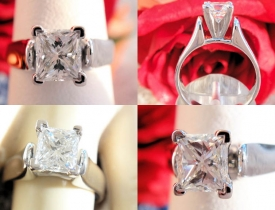 1.05CT Princess Diamond Engagement Ring GIA Certified and Appraised at $8,800 Price: $3,750