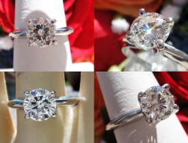 1.05CT Round Brilliant Sitara Diamond Engagement Ring EGL USA Certified and Appraised at $11,900 Price: $4,995