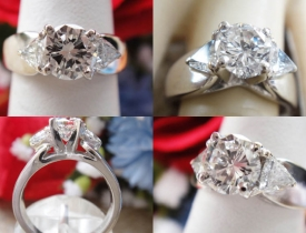 1.33CT Round Brilliant Diamond Engagement Platinum Ring Certified and Appraised at $6,100 Price: $2,750