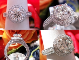 1.79CT Round Leo Diamond Halo Pave Engagement Ring IGI Certified and Appraised at $17,800 Price: $8,495