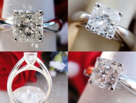 1.02CT Radiant Diamond Solitaire Engagement Ring Certified and Appraised at $10,300 Price: $3,495