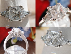 1.19CT Princess Diamond Engagement Ring Certified and Appraised at $5,650 Price: $2,495