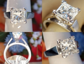 1.21CT Princess Diamond Engagement Ring IGI Certified and Appraised at $11,100 Price: $4,995