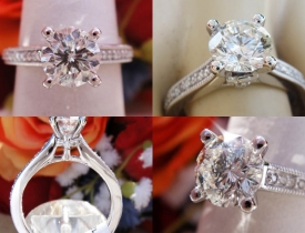 1.22CT Leo Round Diamond Scott Kay Engagement Ring GSI Certified and Appraised at $12,800 Price: $4,995
